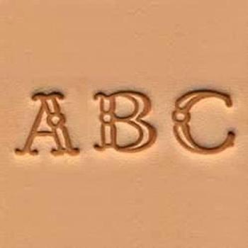 "Alphabet Stamp Set 3/8"""
