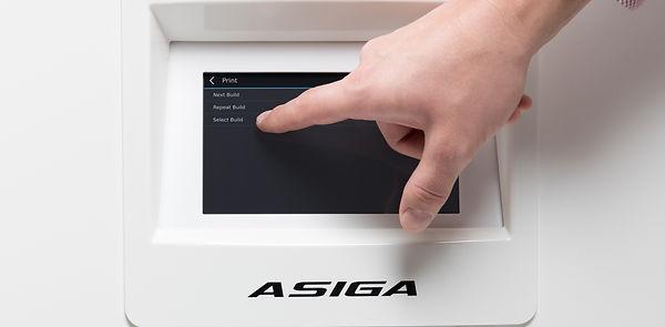 Bildschirm des ASIGA PRO 4K