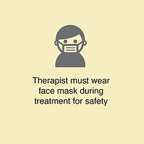 Therapist wear mask