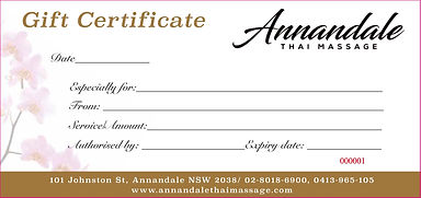 Annandale Thai Massage Gift Certificate
