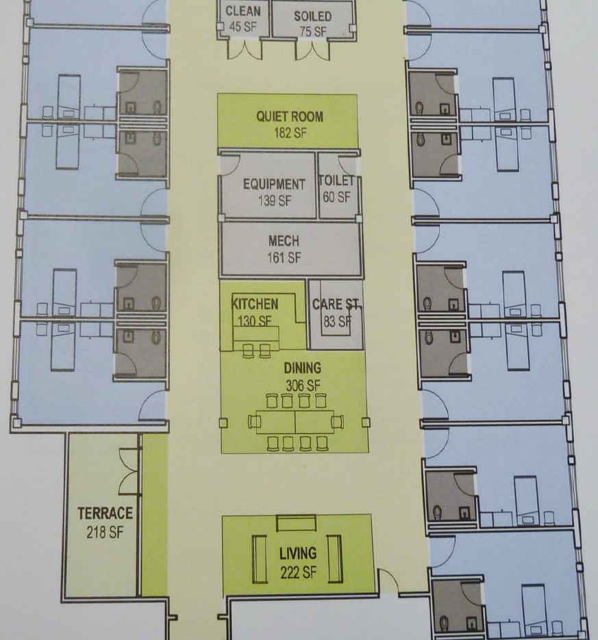 12 Bed House Floor