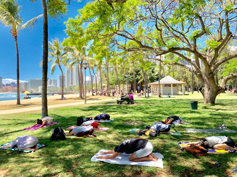 ALL ENGLISH YOGA 指導@Hawaii