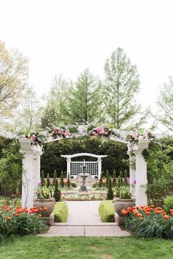 Newfields Garden Wedding