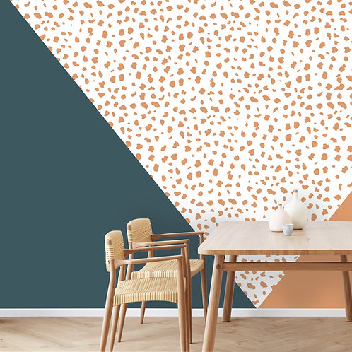Geo Triangles with Cheetah Print