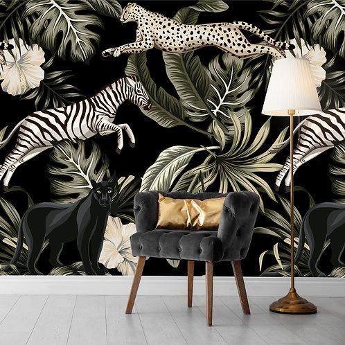 DarkJungle Cats with Zebra