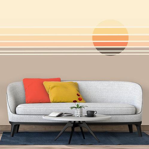 Colourful Lined Sun