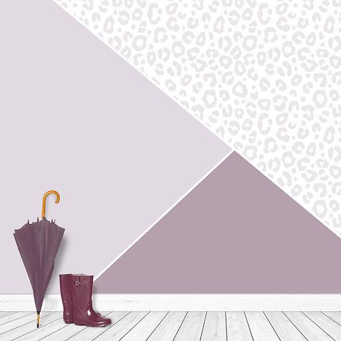Soft Purple Triangle with Leopard Print