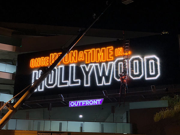 sony pictures neon sign once upon a time