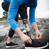 Corredor con pierna amputada