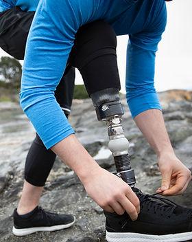 Läufer mit amputiertem Bein