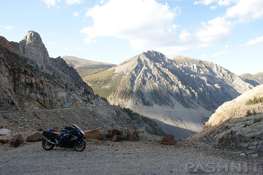 Lee Vining Canyon on Hwy 120 Tioga Pass drops down to Hwy 395
