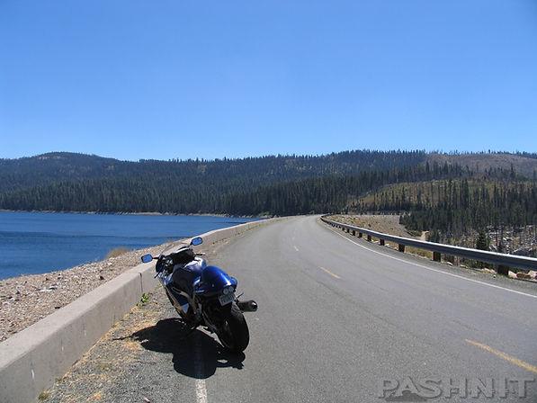 French Meadows Reservoir earthen dam