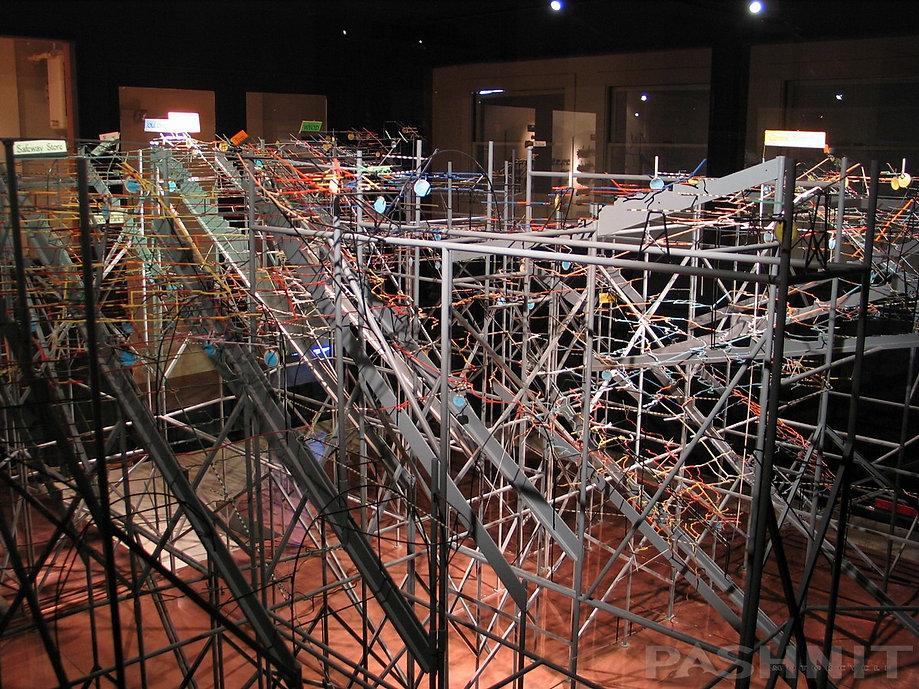 Scale model of Empire Mine in the Secret Room