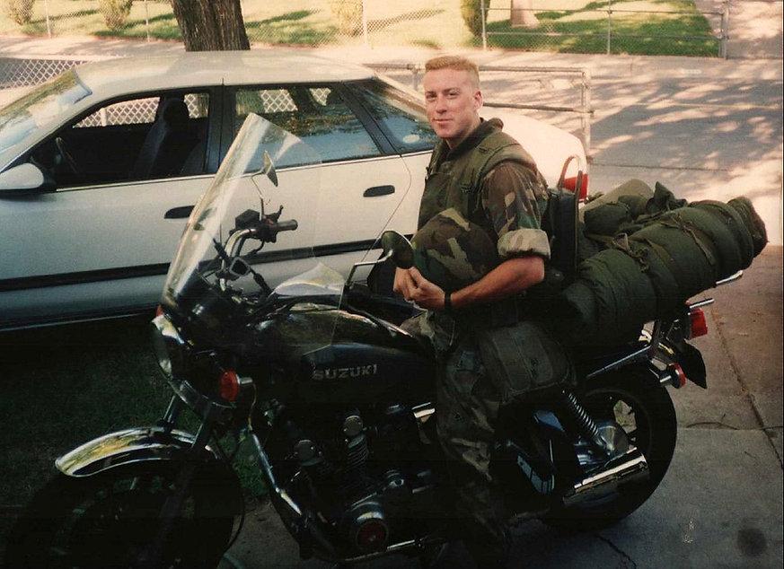Tim Mayhew on a Suzuki GS850L