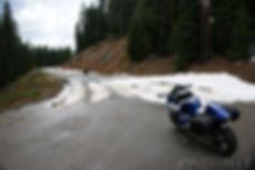 Snow still blocks Tionesta Rd in late May