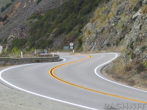 Curves on Highway 1 California Big Sur