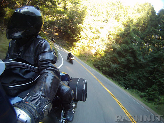 Then another right: Pashnit Riders on Highway 1 The Leggett Section