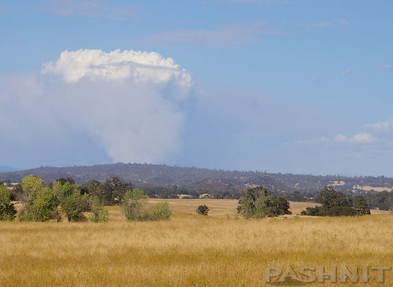 2014 King Fire, El Dorado National Forest seen from 50 miles away