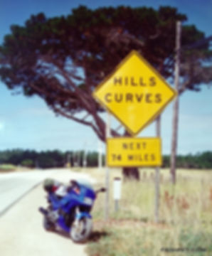 Hills Curves Next 74 Miles Highway 1 Big Sur