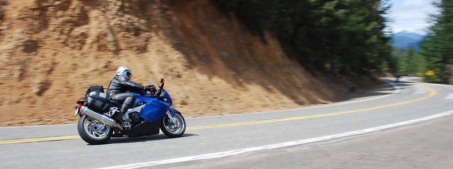 BMW K1200R on Highway 3 Hayfork Pass, California