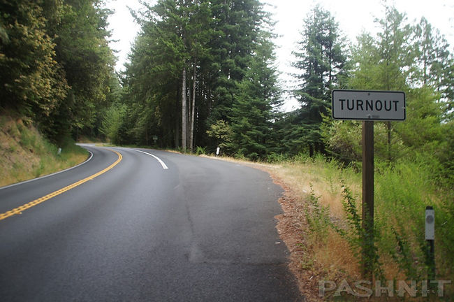 Highway 20 offers many Turnouts and non-stop curves