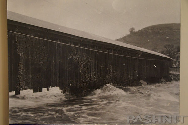 Flooding at the Knights Ferry Covered Bridge
