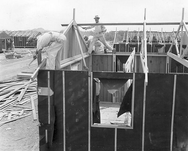 Manzanar Barrack Construction