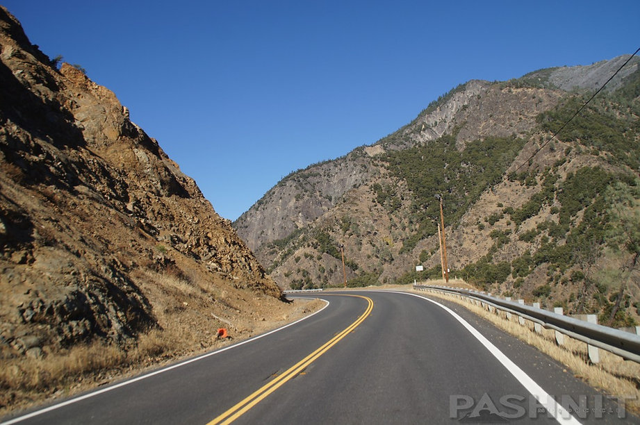 Hwy 299 in Trinity River Canyon