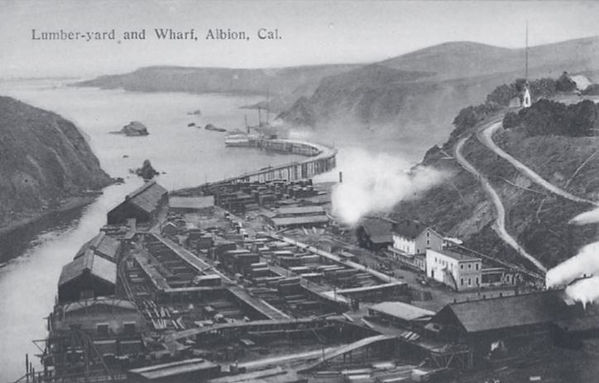 Lumbar yard and Wharf, Albion, CA