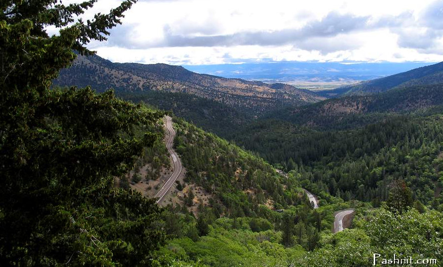 Highway 3 Hayfork Pass, at Peanut, California