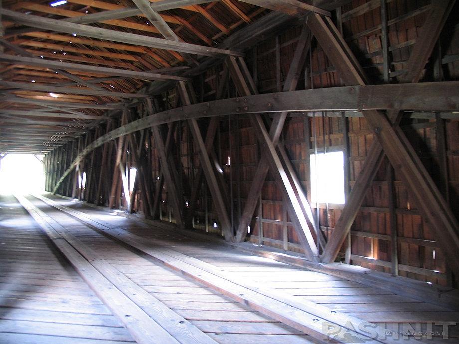 Interior of Bridgeport Covered Bridge