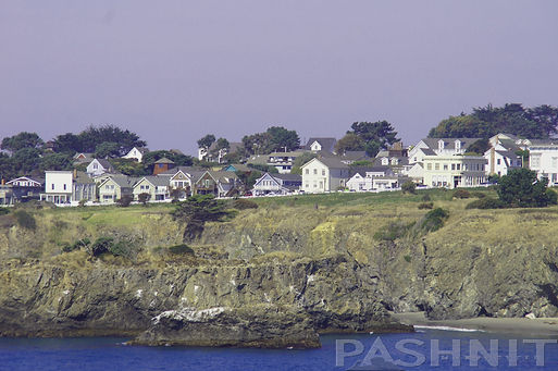 Mendocino resembles a New England town