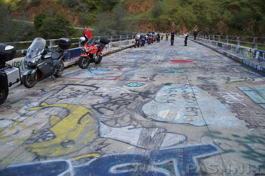 Pashnit Tour group at Graffiti Bridge on Wards Ferry Rd