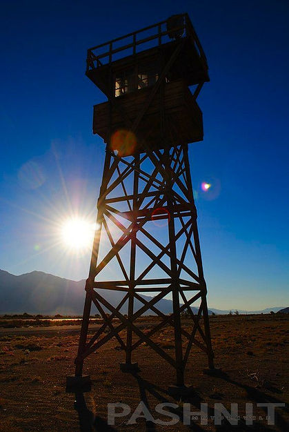 Reconstucted Guard Tower at Manzanar State Historic Site