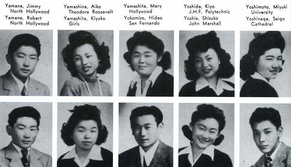 Clipping of Manzanar High School students