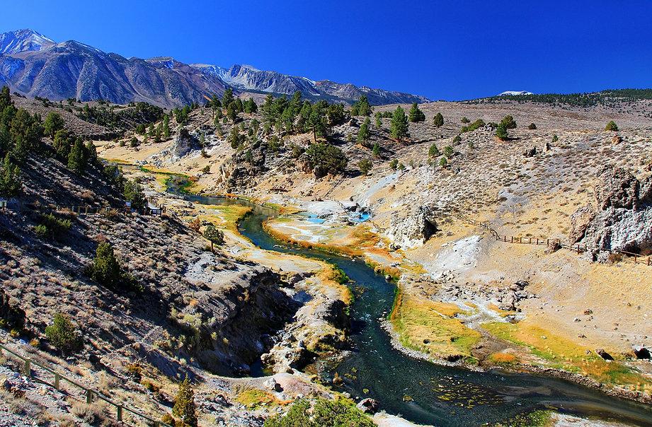 Mammoth Hot Creek Panorama by Photographersnature