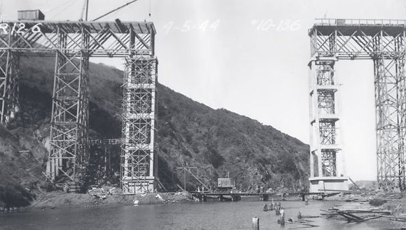 Building the Albion Bridge 1944
