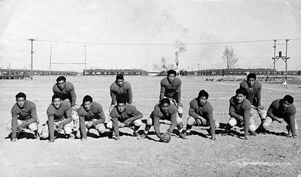 High School football team at Manzanar