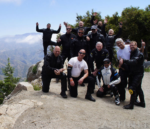 My Pashnit Motorcycle Tour group hours before I had a stroke.