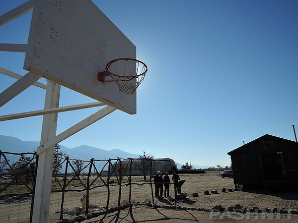 Students played many sports at Manzanar