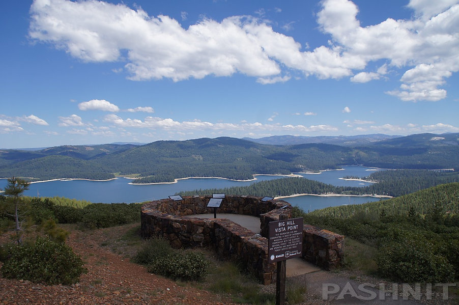 Union Valley Reservoir from Big Hill Vista Point