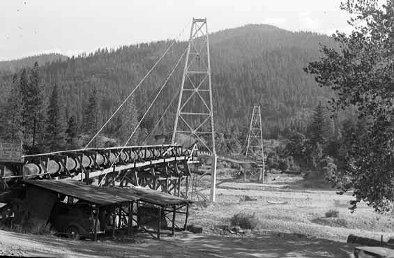 Water Piping for Hydraulic Gold Mining in Trinity County, California