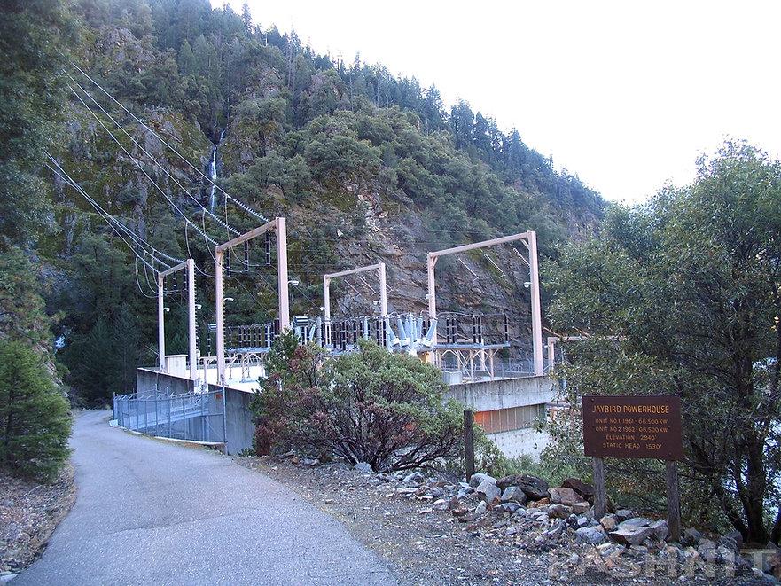 Jaybird Powerhouse: note the waterfall