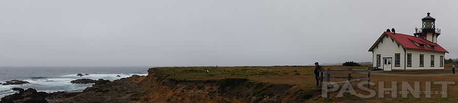 Panorama of Point Cabrillo Lighthouse