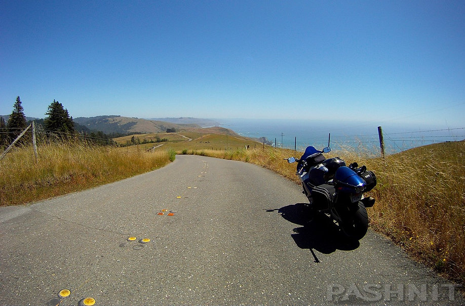 View of Pacific Coast from Meyer Grade Rd