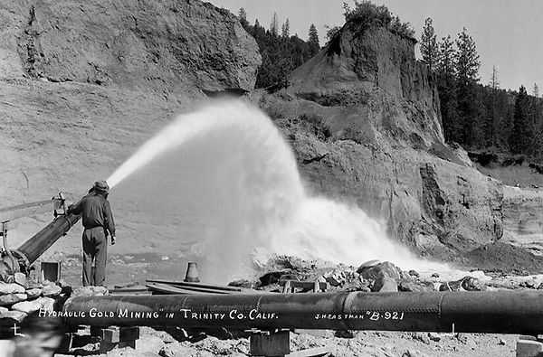 Hydraulic Gold Mining in Trinity County, California