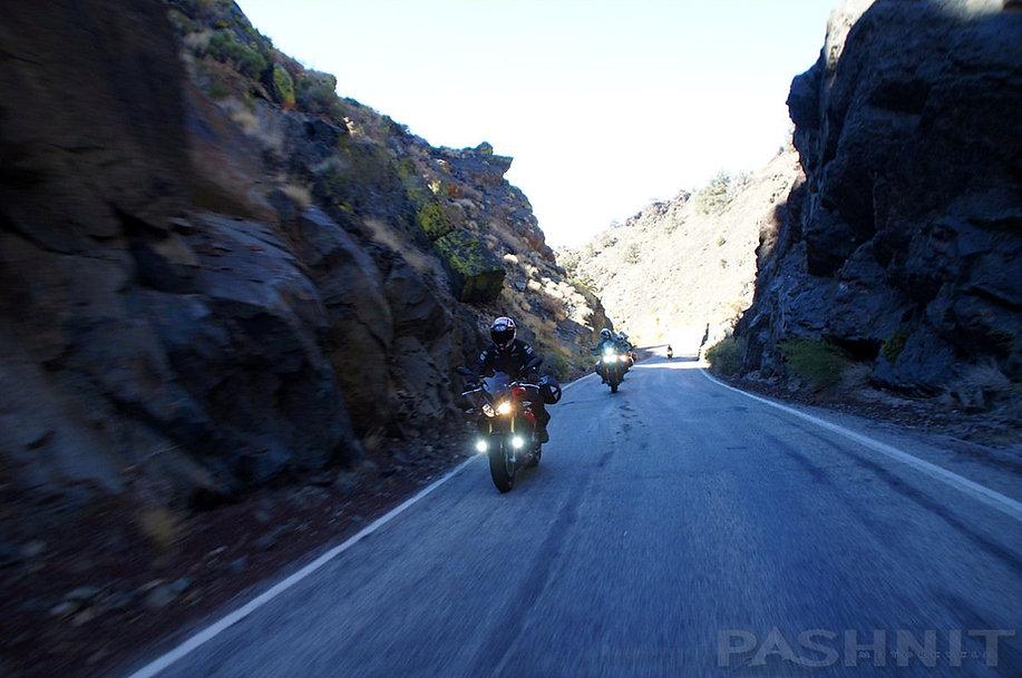 Narrow canyon Highway 168