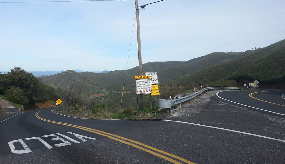 Junction of Old Priest Grade & Highway 120 | Pashnit.com