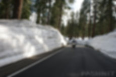 Snow on Highway 4 Ebbetts Pass
