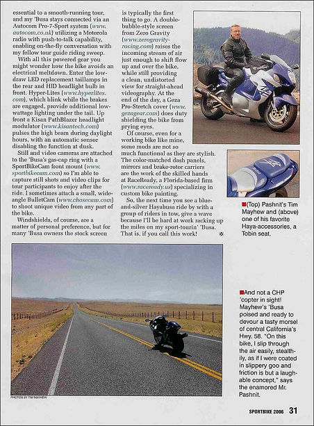 Tim Mayhew writes for Sportbike Magazine